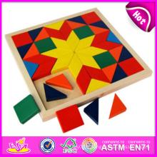 2014 Nouveau Puzzle En Bois Enfant Jouets, Haute Qualité Bloc En Bois Enfant Puzzle Jouets, Vente Chaude En Bois Bloc Enfant Puzzle Jouets W13A049
