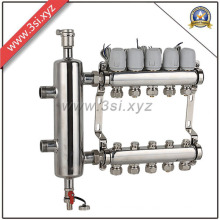 5 Ways Exhuast Floor Heating Water Separator with Gauge (YZF-L082)