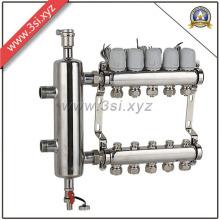 Separador de água do aquecimento de assoalho de Exhuast de 5 maneiras com calibre (YZF-L082)