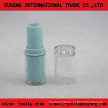 clear plastic round mini lip balm tube