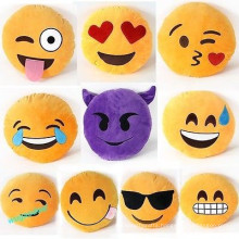custom design outdoor chair cushions plush emoji pillows