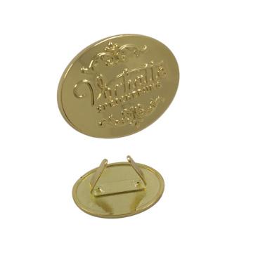 Фабрика dongguan изготовленный на заказ металл таблички с логотипом для сумки