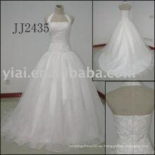 2011 Latest La mayoría de la nueva llegada verdadera llegada de alta calidad de piedras de cristal bola stylerystal embelleció los vestidos de boda 2011 JJ2435