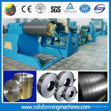 Línea de máquina de corte longitudinal CNC para cortar la bobina de acero en diferentes anchos