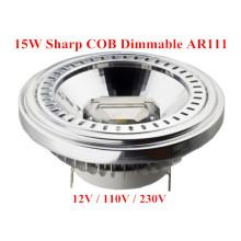 Bulbo claro do diodo emissor de luz do diodo emissor de luz AR111 da ESPIGA da luz do diodo emissor de luz de Dimmable 15W
