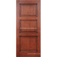 diseño de puerta de madera caoba 3-panel