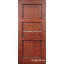3- panel mahogany hardwood door design