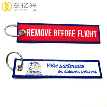 Custom personalized flight tag woven keychains
