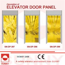 Panel de puerta dorada St. St para la decoración de cabina de ascensor (SN-DP-397)