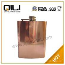 8oz high quality stainless steel copper plating hip flask