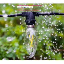 Cabo de extensão de 21 lâmpadas à prova de intempéries 48Ft UE UK Plug LED globo decorativo ao ar livre luzes de corda SLT-161