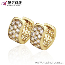 New Fashion 14k Gold-Plated Charming Crystal Hoop Earring