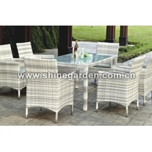 Terrasse Wicker Furniture7 Stück Dining Set