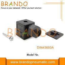 DIN43650A Waterproof Black Socket Solenoid Valve Connector