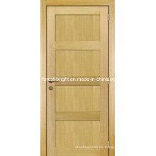 Oak Veneer 4 Panel Shaker Style Diseño de la puerta principal de madera