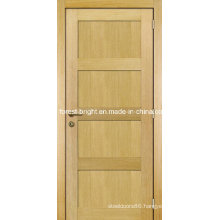 Oak Veneer 4 Panel Shaker Style Wooden Main Door Design