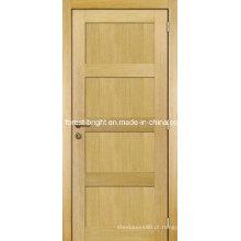 Projeto de madeira da porta principal do estilo do abanador do painel do folheado 4 do carvalho