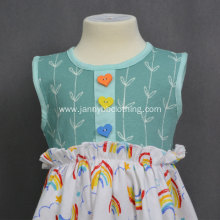 Knitted fabric baby girls cartoon a-line dress