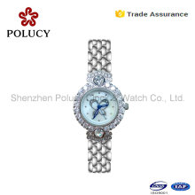 2016 Newest Geneva Brand Stainless Steel Lady Watch Women Rhinestone Watches Dress Quartz Watch