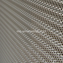 Perforated Al atau Cu Corrugated Roof Panels
