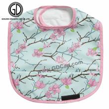 Babero impermeable del bebé del estilo de la flor de cerezo oriental de calidad superior