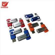 La impulsión flash USB del eslabón giratorio del logotipo de calidad superior del precio más barato imprimió