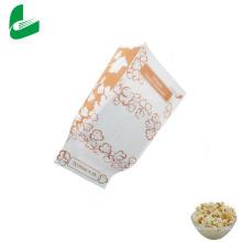 Sacos de embalagem de pipoca de microondas de papel Kraft à prova de graxa