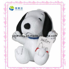 Weiß Snoopy Cartoon Plüsch Puppe (XMD-0067C)