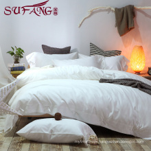 Luxury Comfortable Adult Queen Size Hotel bed sheets Linen Supplier 100% Cotton Super soft cotton white bedding sets