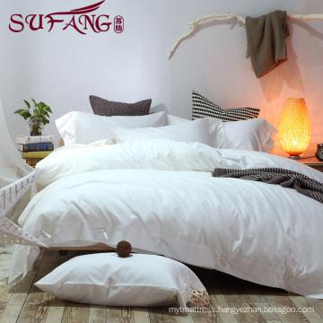 Luxury Comfortable Adult Queen Size Hotel bed sheets Linen Supplier 100% Cotton Super soft cotton white bedding sets