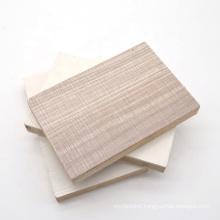 5 layers poplar core 19mm melamine film block board for kitchen cabinet door