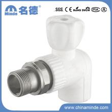 Vanne à bille de radiateur PPR 90 pour matériaux de construction