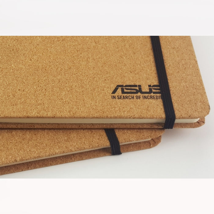 Custom Logo Eco Friendly Cork Wood Cover Notebook