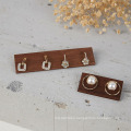 Wood Jewelry Display Stand wooden Earrings Rings Holder