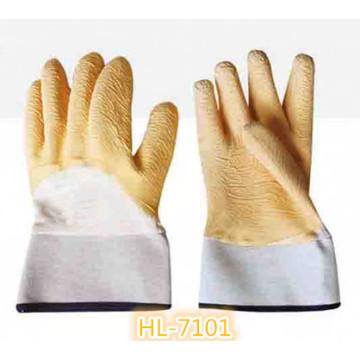 Хлопок Джерси латекса волны складчатости перчатка