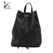 Las mujeres que hacen compras mochila niñas genuina escuela barata mochila de cuero
