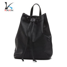 Mulheres mochila de compras meninas genuína mochila de couro escolar barato