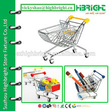 Carrinho de compras para brinquedos mini-bagagem