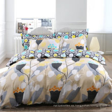 Juego de sábanas estampadas en el hogar