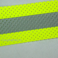 Perforated Aramid Backing Fabric FR Reflective Tape For Flame Retardant Clothing