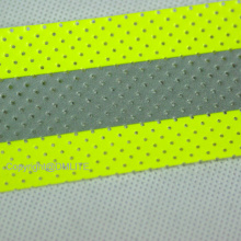 Perforated Aramid Backing Fabric For Flame Retardant Clothing FR Reflective Tape with hole