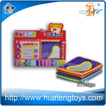 Wholesale Educational Baby soft Digital cloth book for bed surrounded H109550