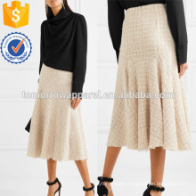 MetallicTweed Midi Skirt Manufacture Wholesale Fashion Women Apparel (TA3039S)