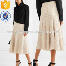 MetallicTweed Миди юбка Производство Оптовая продажа модной женской одежды (TA3039S)