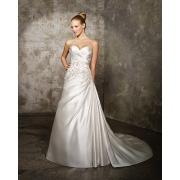 Vestido de casamento de cetim perolização de Criss-Cross-line querida Catedral, trem