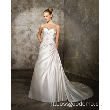 Abito da Sposa A-line Sweetheart Cathedral Satin Criss-Cross