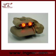 Airsoft seguridad casco casco militar ligero del LED luz LED azul 3 intensidades