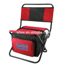 Fishing camping chair with cooler bag