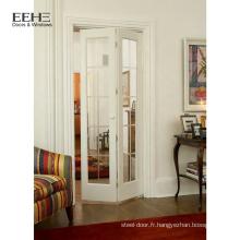 Porte en bois massif composite d'intérieur taillée manuellement pour la maison
