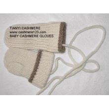 Cashmere malha luvas de bebê